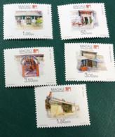 MACAU 1995 - TEMPLES OF MACAU 3RD ISSUE - SET OF 5, UM VF - Macao