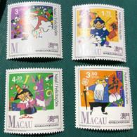 MACAU 1991 CHRITSMAS AND FELICITATIONS - SET OF 4, UM VF - Macao