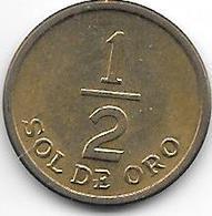 Peru 1/2 Sol 1976 Km 25 Xf++ - Pérou