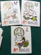 MACAU 1994 SYMBOLS OF LUCK - SET OF 3, UM VF - Macao