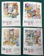MACAU 1994 TRADITIONAL OLD SHOPS OF MACAO - SET OF 4, UM VF - Macao