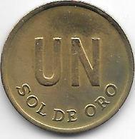 *peru 1 Sol 1975 Km 266.1 Vf+ - Pérou