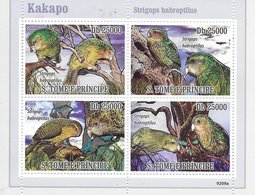 TIMBRES- STAMPS - SELLOS - SAO TOME ET PRINCIPE / S. TOME AND PRINCIPE - 2009- OISEAUX - KAKAPO - TIMBRES NEUFS - MNH9 - Vogels