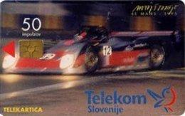 SLOVENIA SCHEDA TELEFONICA  Le Mans 1995 - Corrident - Cars