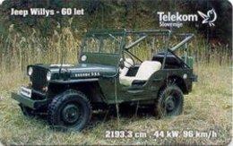 SLOVENIA SCHEDA TELEFONICA  Jeep Willys 1941 - Voitures
