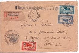 MAROC - LETTRE RECOMMANDEE TAZA-VILLE POUR PARIS 1924 - Maroc (1891-1956)