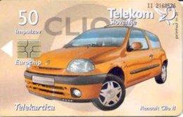 SLOVENIA SCHEDA TELEFONICA Renault Clio II - Cars