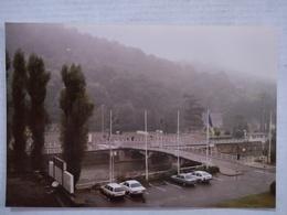 Chaudfontaine. Pont Du Casino Dans Le Brouillard. Vue Du Toit De L'Hôtel Palace. Années 80. 15x10 Cm - Lieux