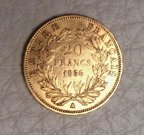 Pièce Napoléon III Or Tête Nue 1856 - France