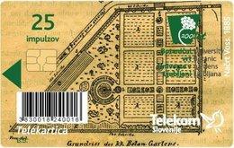 SLOVENIA SCHEDA TELEFONICA   200 Let – Botanični Vrt V Ljubljani 1810 - 2010 - Schede Telefoniche