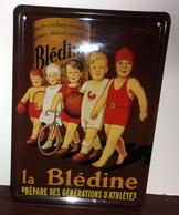 Plaque Metal La Bledine Prepare Des Generations D'athletes - Advertising (Porcelain) Signs