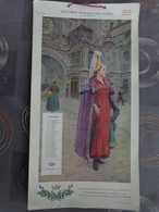Calendrier 1910 Costumes Français L'urbaine Vie Compagnie D'assurances Sur La Vie Humaine 12 Pages 16 X 34 Cm - Calendriers