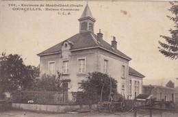 25.  MONTBELIARD ( ENVIRONS DE). CPA. RARETE. COURCELLES. MAISON COMMUNE. ANNEE 1923 - Montbéliard