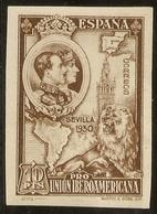 Edifil 580** Mnh Sin Dentar 10 Pts Castaño Pro Unión Ibero Americana 1930  NL993 - Unused Stamps