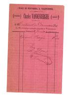 RARE Ancienne Facture 1898  épicerie Charles VANDENBERGHE Place Du Neuf-bourg VALENCIENNES - Food