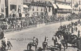 """0478 """"RICORDO DEL PALIO DI SIENA - LA MASSA"""" ANIMATA, CAVALLI. CART  SPED 1908 - Siena"""