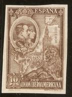 Edifil 581(*)Mng Sin Dentar 10 Pts Castaño Pro Unión Ibero Americana 1930 NL1066 - Nuevos