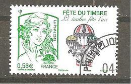 France N° 4809  Fête Du Timbre 2013 - Le Timbre Fête L'air Marianne De Ciappa Et Kawena Oblitéré - France