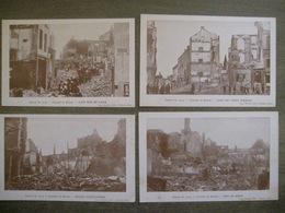 Lot 4 Cpa Leuven Louvain - Guerre De 1914 - Rue De Diest Vieux Marché Rue De Paris Eglise - Militaires - Leuven