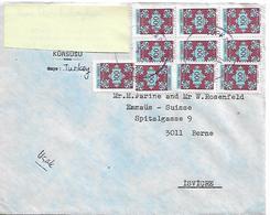 TURKEY Cover Sent To Suisse 10 Stamps COVER USED - 1921-... République