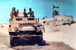 WW2 - Blindé De Reconnaissance Allemand à El Agheila En 1942 - 1939-45