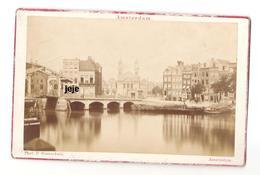 Amsterdam - Holland - Photo 19eme Siecle Sur Carton - Foto's