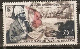 IFrench Equatorial Africa  1951  SG  270  Count Savorgnan De Brazza   Fine Used - Französisch-Kongo (1891-1960)