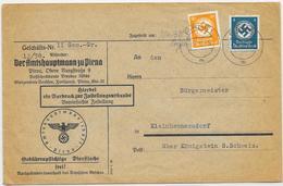 DR Dienst Brief Zustellurkunde Der Amtshauptmann Zu Pirna Mif. Mi.143,133 - Allemagne