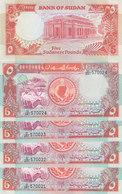 SUDAN 5 POUND 1991 P- 45 LOT X5 UNC NOTES */* - Sudan