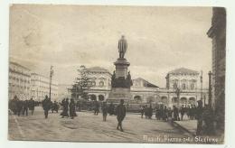 NAPOLI - PIAZZA DELLA STAZIONE 1921 - VIAGGIATA FP - Napoli (Naples)