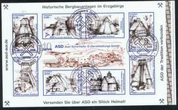 Privatpost ASD Aue Block 1 Mit Den Marken 13-20 Mit Sonderstempel: 06.03.2006 Besucherbergwerk Stollen Pöhla - Deutschland