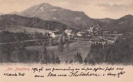 Josefberg Austria, View Of Town Church And Mountains, C1900s Vintage Postcard - Austria