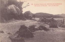 New Caledonia, On The Rocky Shore Beach Near Noumea, C1910s Vintage Postcard - New Caledonia