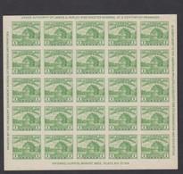 Sc#730, 1c Fort Dearborn American Philatelic Society Souvenir Sheet Of 25 1933 Issue - Ongebruikt