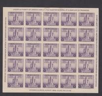 Sc#731, 3c Chicago Federal Building American Philatelic Society Souvenir Sheet Of 25 1933 Issue - Verenigde Staten