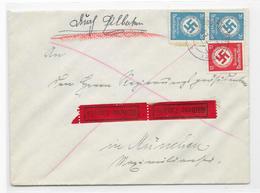 DR Dienst Brief Eil Landrat Ebersbach 2.3.42 Mif. Mi.140,138 - Allemagne
