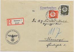 DR Dienst Brief Reco Der Oberpräsident Der Provinz Hannover Wasserstraßendirektion 17.5.40 Mif. Mi.136,141 - Germany