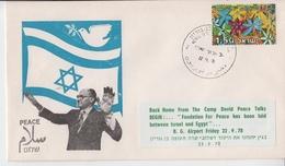 ISRAEL 1978 BACK HOME FROM CAMP DAVID PEACE TALKS PRIME MINISTER MENACHEM BEGIN COVER - Impuestos
