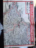Carte Du Tour De France 1965 Supplement Du Journal Le Miroir Des Sports - Cyclisme