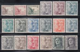 1949-1953    EDIFIL Nº 1044 / 1061  /**/ - 1931-Hoy: 2ª República - ... Juan Carlos I