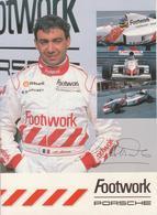 FootWork PORSCHE Michele Alboreto Autografata - Pubblicitari