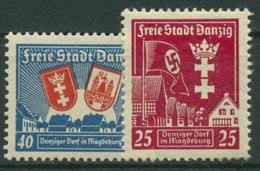 Danzig 1937 DANZIGER DORF In Magdeburg 274/75 Mit Falz - Danzig