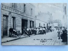 C.P.A. : 33 BORDEAUX : 13, Rue De Belleyme, F. Brousset, Charron Forgeron En Tous Genres - Bordeaux