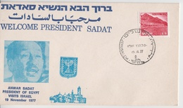 ISRAEL 1977 VISIT EGYPT PRESIDENT ANWAR SADAT IN JERUSALEM COVER - Impuestos