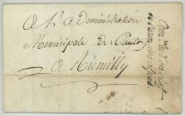 Commissaire Ordonnateur En Chef De L'Armée Des Alpes / LàC 1797 De Chambéry à Rumilly . Foulet . Fourrages . - Marcophilie (Lettres)