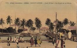 AK Senegal - Afrique Occidentale - Saint-Louis - Guet N'Dar - Le Pont De La Géole - Ca. 1920 (36716) - Senegal