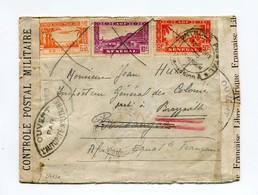 !!! PRIX FIXE : SENEGAL, LETTRE DE DAKAR POUR L'AEF DE 1943 AVEC REEXPEDITION ET MULTIPLES CENSURES - Sénégal (1887-1944)