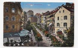 (RECTO / VERSO) KARLOVY - KARLSBAD PARKSTRASSE - BEAU CACHET TIMBRE - CPA VOYAGEE - Czech Republic