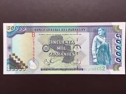 PARAGUAY P218 50000 GUARANIS 1998 AUNC - Paraguay