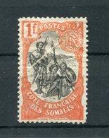 !!! PRIX FIXE : COTE FRANCAISE DES SOMALIS, N°64 NEUF * AVEC PLI ACCORDEON - Côte Française Des Somalis (1894-1967)
